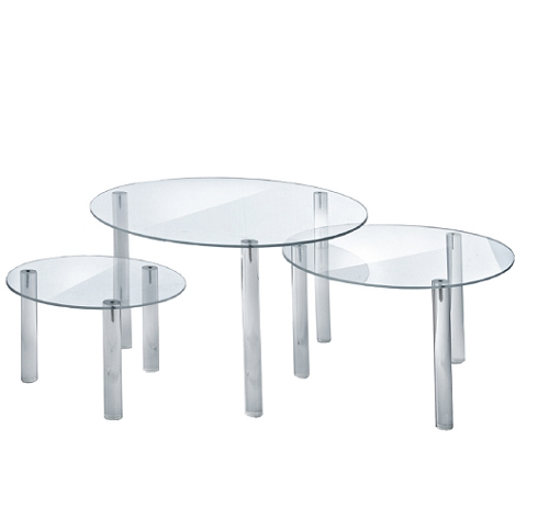 Round Acrylic Riser Display Table Accessory Clear Risers