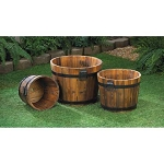 3 Apple Barrel Planters