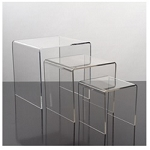 Small Acrylic Display Risers - 3pc