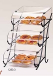3 Tier Wire Display w/ Round Nose Bins