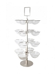 4 Tier Acrylic Bowl Display