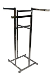 4-Way Hi Capacity Rack - Straight Arms Chrome