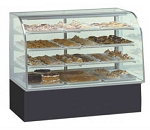 Glass Bakery Display - Non-Refrigerated - Curved Front  - 40