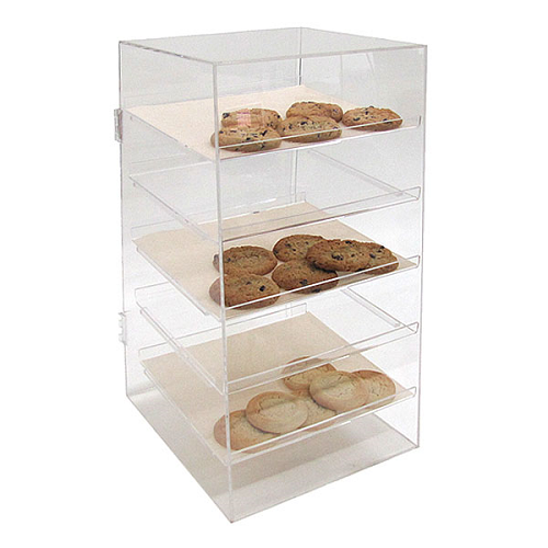 A Shelf 58 15c 5 Chrome Pull Out Basket: Locking Acrylic Counter Display