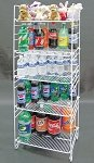 5-Tier Adjustable Merchandiser - White