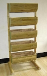 5 Tier Bamboo Bin Display - 24in Bins
