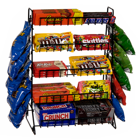 5 Tier Display With Clip Strip Counter Rack Tiered Display