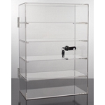 Countertop Acrylic Locking Showcase - 5 Shelf