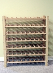 7 Shelf Wine Rack - Capacity 56 Bottles