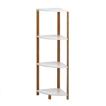 Bamboo 4-Tier Corner Shelf