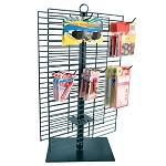 Black Wire Countertop Spinner Rack