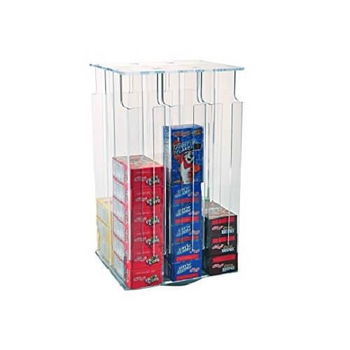 Gravity Cereal Box Dispenser Rotating Cereal Box Display