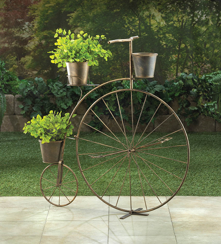 High Wheel Bicycle Plant Stand Vintage Style Plant Display