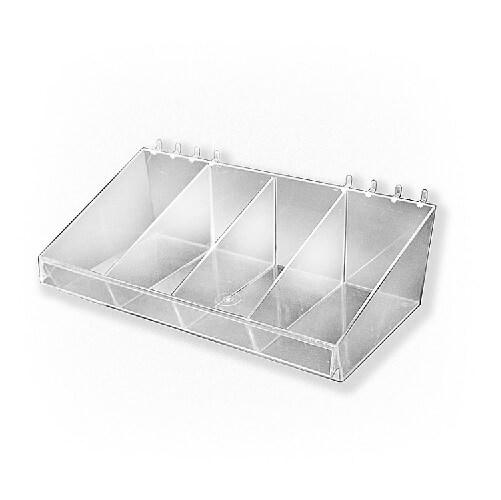 Large Acrylic Divider Bin Slatwall Accessory Bin Acrylic