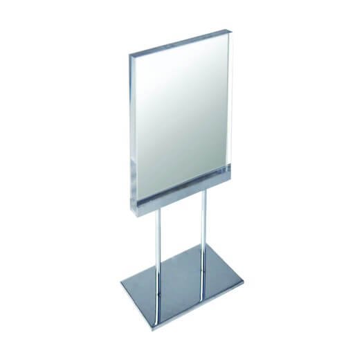 acrylic sign holder metal display sign counter signage