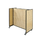 Metal Framed Rolling Maple Slatwall Gondola