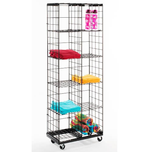 Mobile Wire Grid Cube Display Wire Display Stand Cube Rack