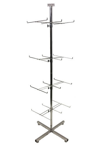 Spinner Floor Rack Floor Fixture Rotating Display Stand
