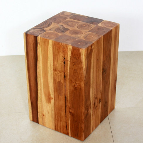 Teak Block Stand Unique Pedestals Carved Wood Pedestals