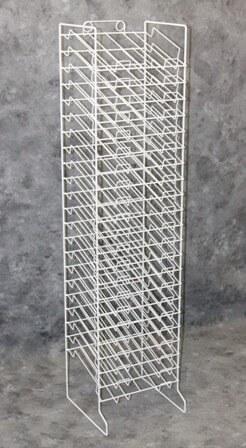 White 20 Slot Paper Tower Retail Rack Metal Paper Rack