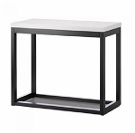 Wood Black and White Table Display