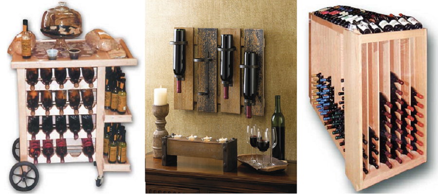 Wood Display Wine Rack Subcat
