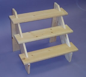 Wooden Countertop Riser 3 Step Stand Wood Plant Display