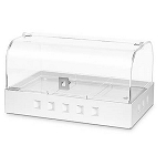 Dome Bakery Case - White Metal Base