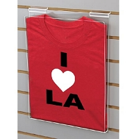 Acrylic T-Shirt Displayer for Slatwall