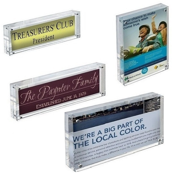 Acrylic Block Sign Holder | Acrylic Block Frame | Sign Holder