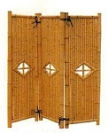 Three Panel Bamboo Divider - 18' Panel