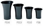 Black Designer Vases - 6ct