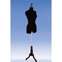 Black Jersey Woman DRESS Form - Tripod Base