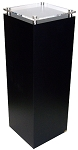 Black Laminate Pedestal with Acrylic Top - Size Option