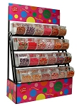 Candy Display Rack With Bins / Scoop Assemblies - 72
