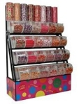 Candy Rack With Towers - Bins - Scoop Assemblies - 72