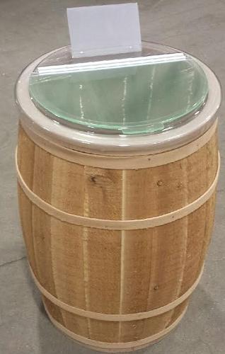 Cedar Barrel W Food Safe Liner Wood Display Retail Bin
