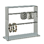 Chrome Bracelet Counter Display - 2 Tiers