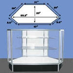 Corner Full Vision Metal Framed Display Case
