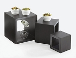 Black Bamboo Cube Set