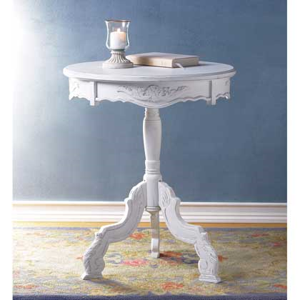 Decorative Accent Table Floral Wooden Display Stand