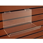 Deep Acrylic Shelf With Lip - 5in D x 12in W