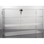 Deluxe 3 Shelf Locking Acrylic Showcase