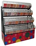 Candy Display Rack With Divided Bins - 58
