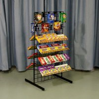 Double Sided Wire Candy Rack Metal Display 2 Sided Stand