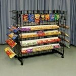 Double Wide Double Sided Candy Rack