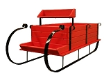 Farmers Sleigh Display - Painted Apple Red