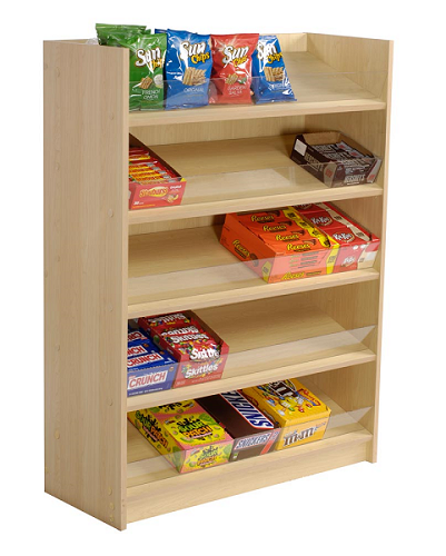 5 Shelf Wood Candy Display Candy Racks Display Shelves