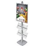 Frame Tower Display w/ Brochure Holders