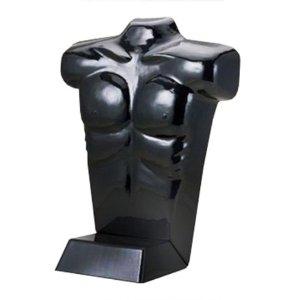 Black Freestanding Male Half Form